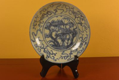 Chinese porcelain plate Vegetation