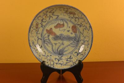 Chinese porcelain plate Lotus 3