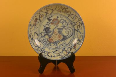 Chinese porcelain plate Phoenix