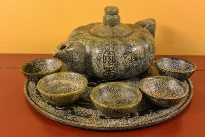 Jade Statues Tea set