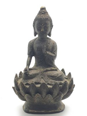 Bronze Statue Buddha on a lotus flower