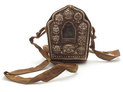 Tibetan Reliquary - Portable Altar Shrine Prayer Box