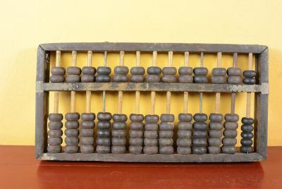 Old asian Abacus in wood