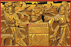 Old Large Wooden Panel Qing Dynasty