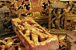 Placas de Madera Qing con Soporte