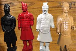 Versión moderna de la Estatua Guerreros de terracota