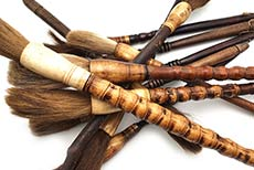 cepillos de madera chinos antiguos - decoración