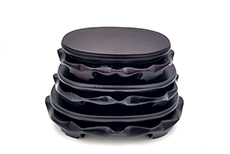 Chinesische Holzständer - Oval