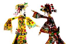 Chinesische Marionetten Chinesisches Schattentheater