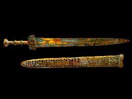 Espadas chinas de teatro de bronce - Accesorio de teatro