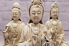 Estatua de porcelana blanca Dehua