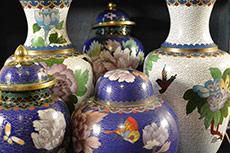 Floreros y Jarrones chinos de Cloisonné