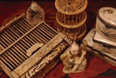 Objets en os chinois - ivoir de chine et décoration asiatique