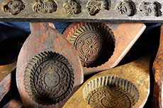 Old Chinese Handcarved Wooden Molds