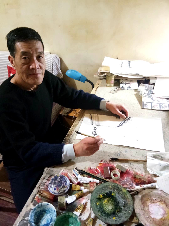 Art chinois aquerelle art moderne