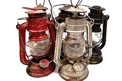 Vieja lámpara de seguridad - Mineros chinos