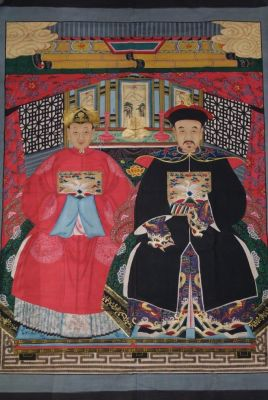 Majestueux Couple d'ancêtres chinois