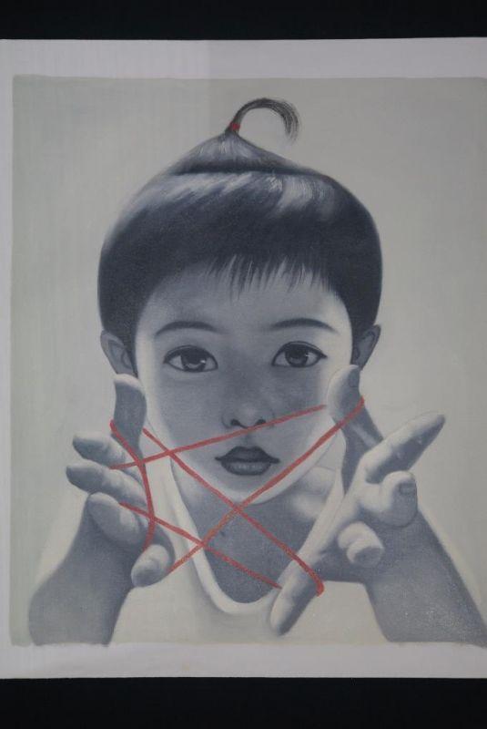Peinture Chinoise Sur Toile Artiste Contemporain Zhu Yiyong
