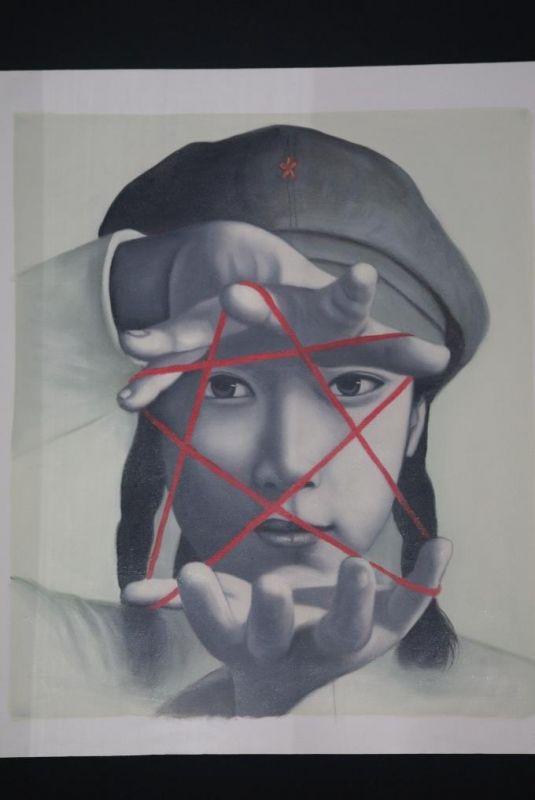Peinture Chinoise Sur Toile Artiste Contemporain Zhu Yiyong Le