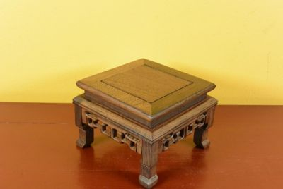 Support en Bois - Table Chinoise - 12x12x10cm