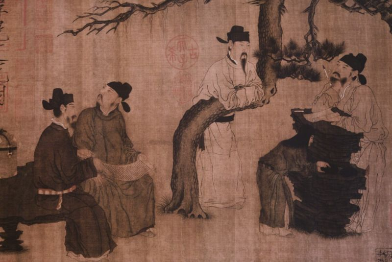 Zhou Wenju Dynastie Tang Sages Chinois 2